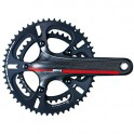 ROAD 3K HOLLOW CARBON 10-SPEED CRANKSET - DRIVELINE ZELE
