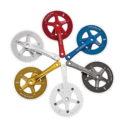 SINGLE SPEED ANODIZED CRANKSET - DRIVELINE TK13P1