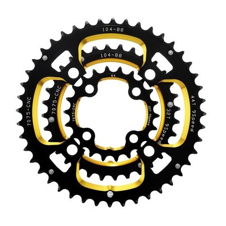 MTB DOUBLE ANODIZED CHAINRING SET - DRIVELINE MTB03