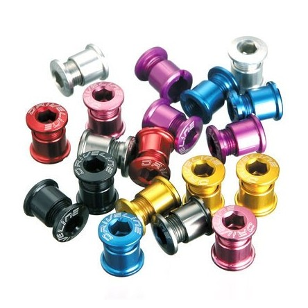 ANODIZED ALLOY MTB CHAINRING BOLTS - DRIVELINE AL-M8-M